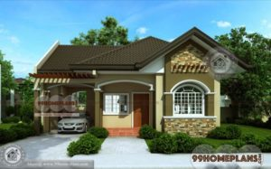 Bungalow House Designs - Best Home Plan Elevation - One Story - Simple