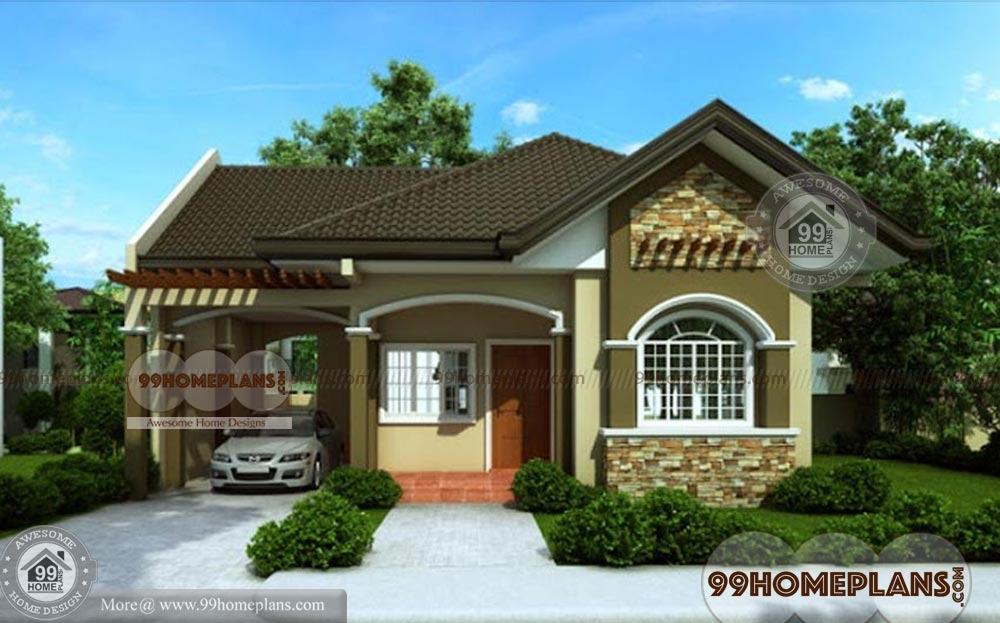 Floor Plan Elevation Bungalow : Bungalow house designs best home plan elevation one
