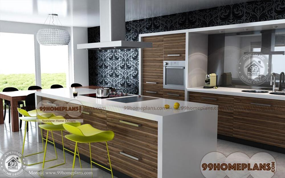 Indian Kitchen Design Catalogue With Straight Modular Kitchen Collections