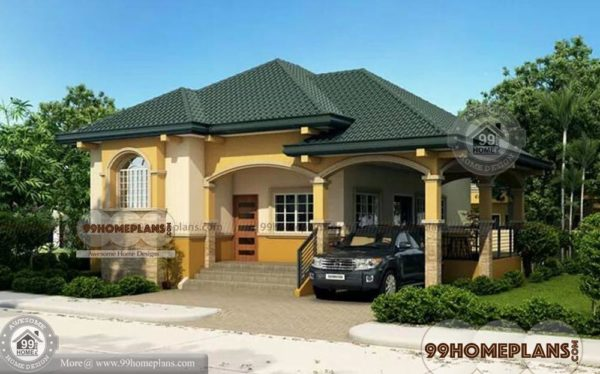 Modern Bungalow House Plans Home Elevation Single Story 1560 Sq Ft