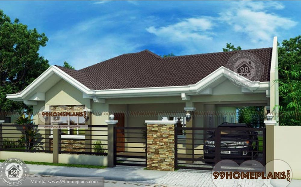 Traditional bungalow house plans home plan elevation for 1 story bungalow house plans