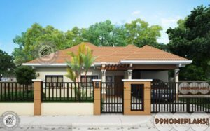 Traditional Home Designs 1274 sqft