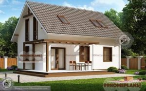 Traditional Home Plans – House Plan Elevation – Double Story – 3 Bedroom