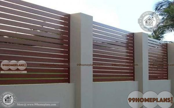 Boundary Wall Design With Latest Styles Of Home Compound Wall Plans