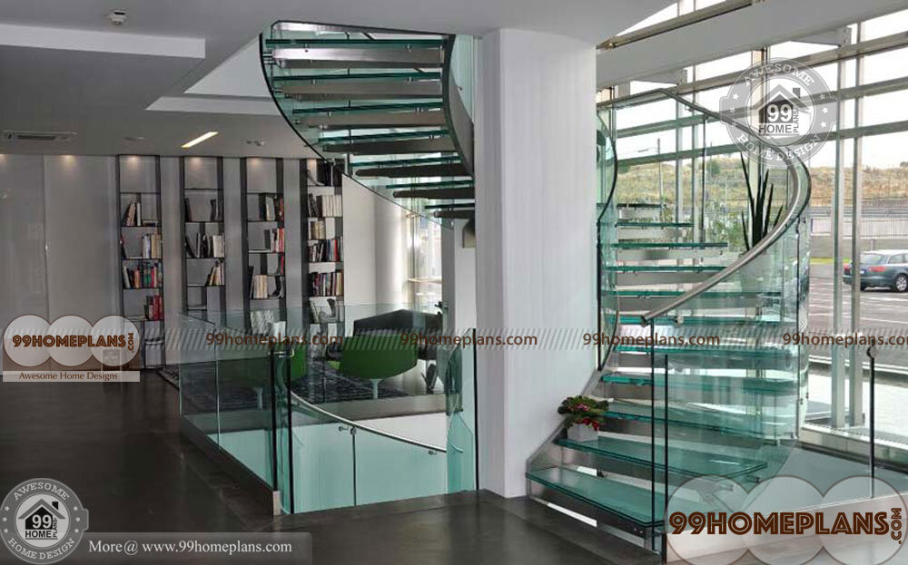 Curved Staircase Plan home interior