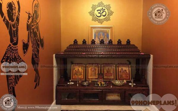 Design Of Pooja Room Within A House With Narrow Space Prayer Rooms