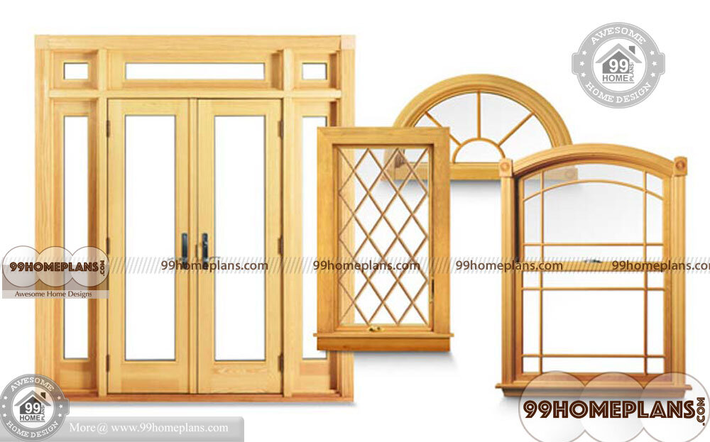 doors and windows design with main wooden stylish and cute