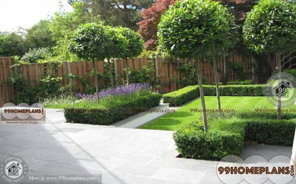 Flower Garden Designs Ideas With Easy Made Outdoor Lawn