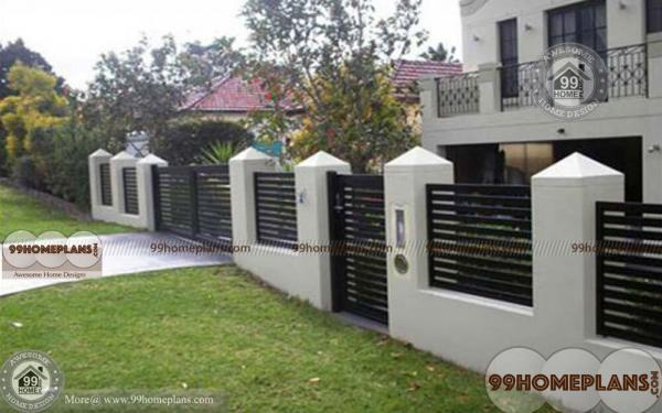 Front compound wall design with best boundary wall for House outer wall design