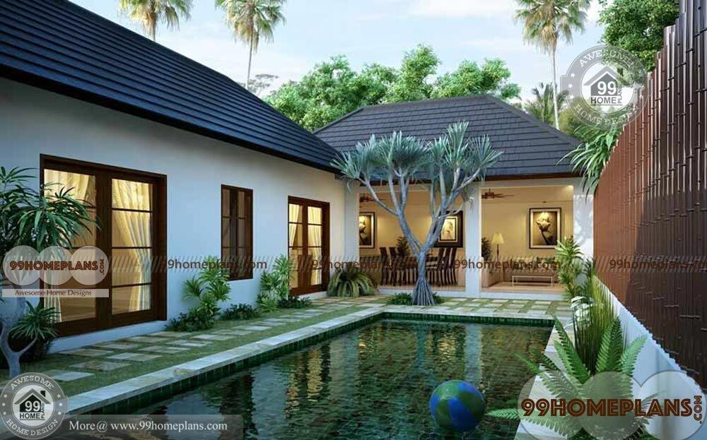 Garden Courtyard Designs Ideas With Perfect And Excellent