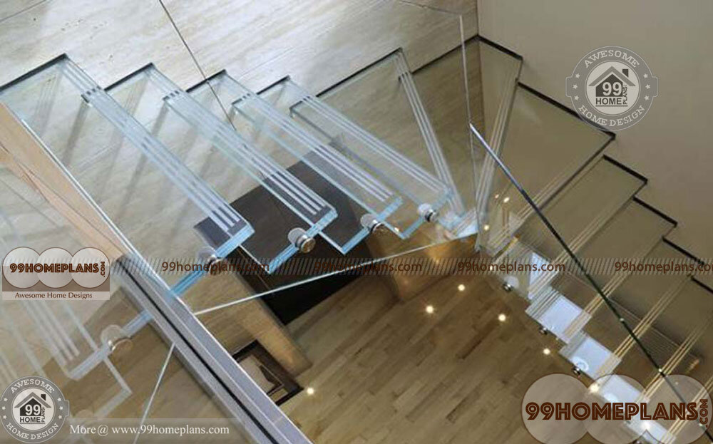 Geometrical Staircase Plan home interior