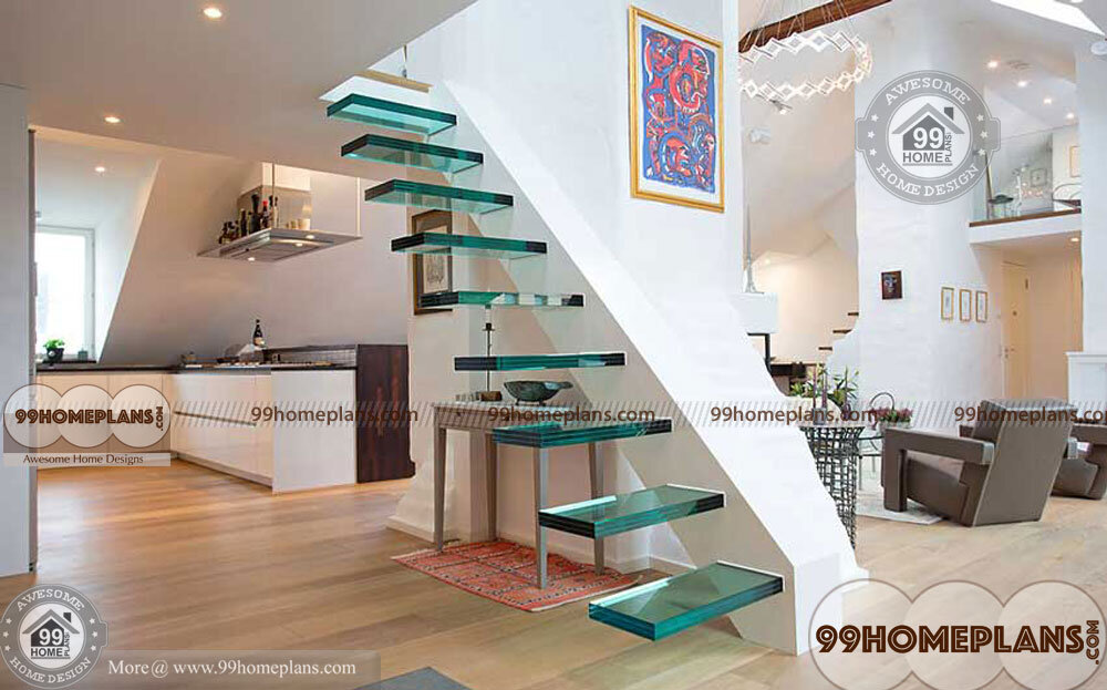 Glass Staircase Designs home interior