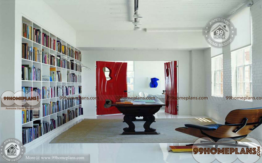 Home Library Shelving home interior
