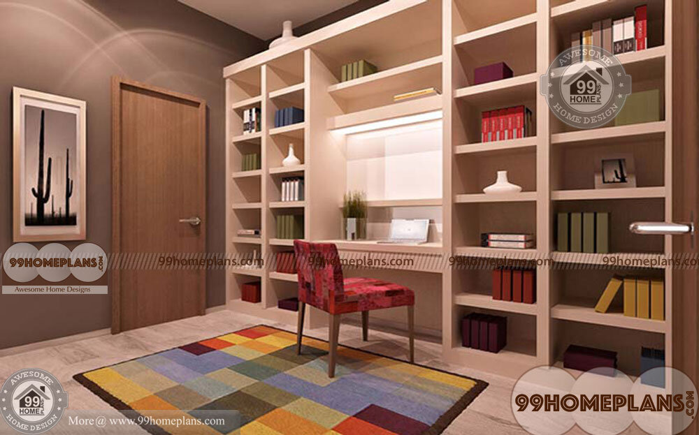 Home Office Library Design Idea Traditional Indian Style Plans Collections