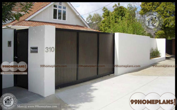 House Boundary Wall Design Ideas With Simple Compound Walls Models