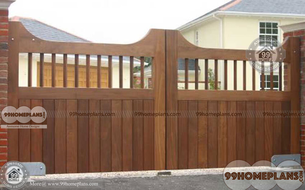 House Front Gate Designs Ideas With Small Eye Catching Wooden Gates