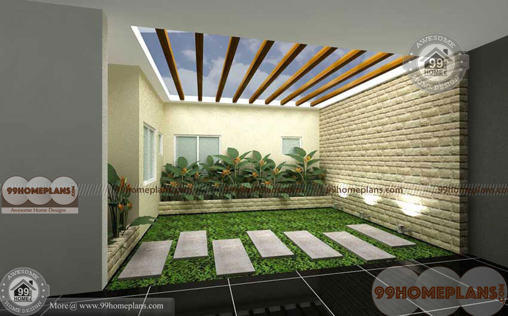 Inside Courtyard Designs Ideas With Attractive And