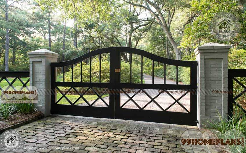 iron gate designs for indian homes home interior - Get Modern Gate Design For Small House Images