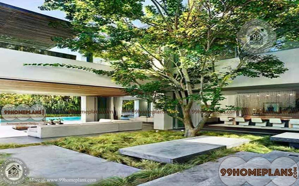 Kerala Home Courtyard Designs Ideas With Latest Awesome Garden Plans