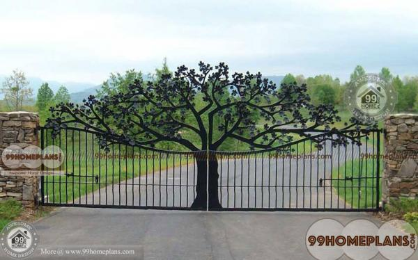 Main Gate Design Iron with New Style Modern Home Gates