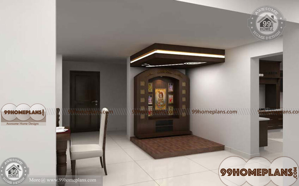 Mandir Designs For Small Room With Kerala Style Prayer