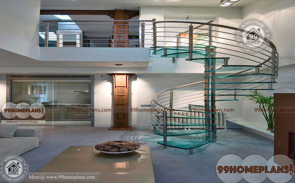Metal Spiral Stairs home interior