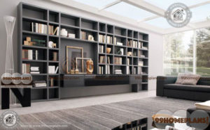 Modern Home Library home interior