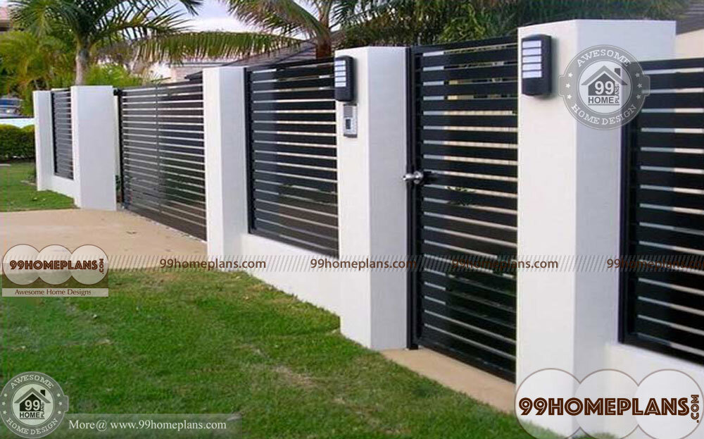 Outer boundary wall design for home modern exterior wall for Indian home outer design