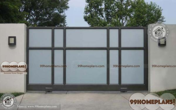 Simple gate designs ideas with latest sliding type gates for Minimalist house gate