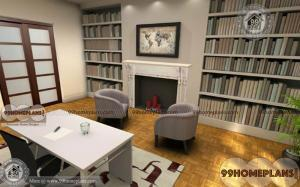 Simple Home Library Ideas home interior