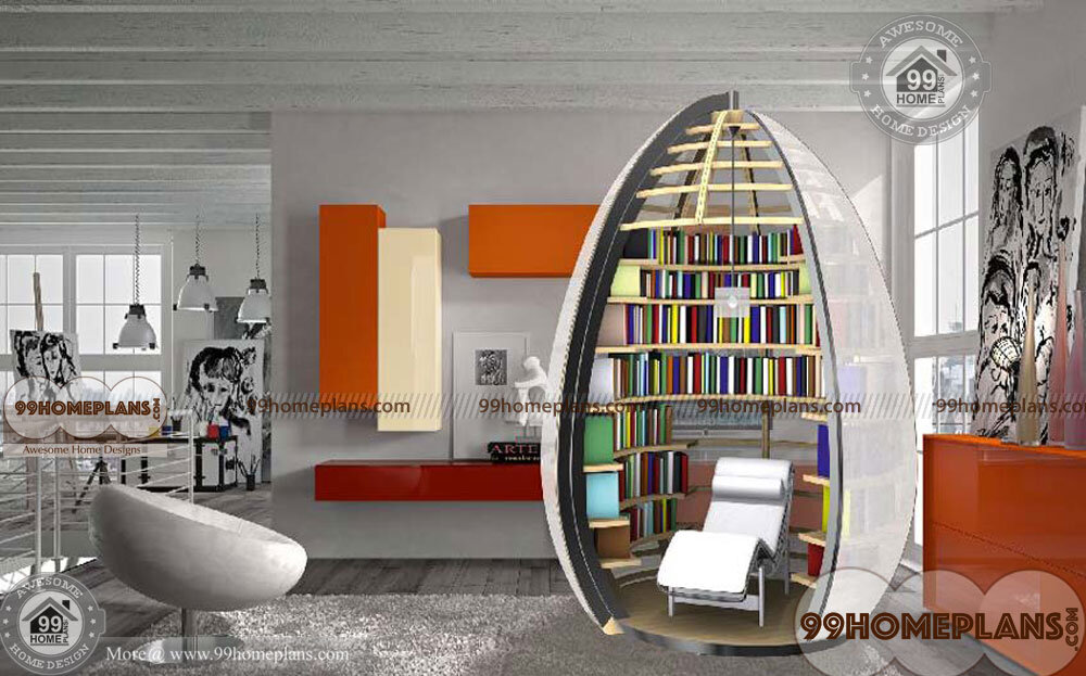 Small Home Library Design Ideas