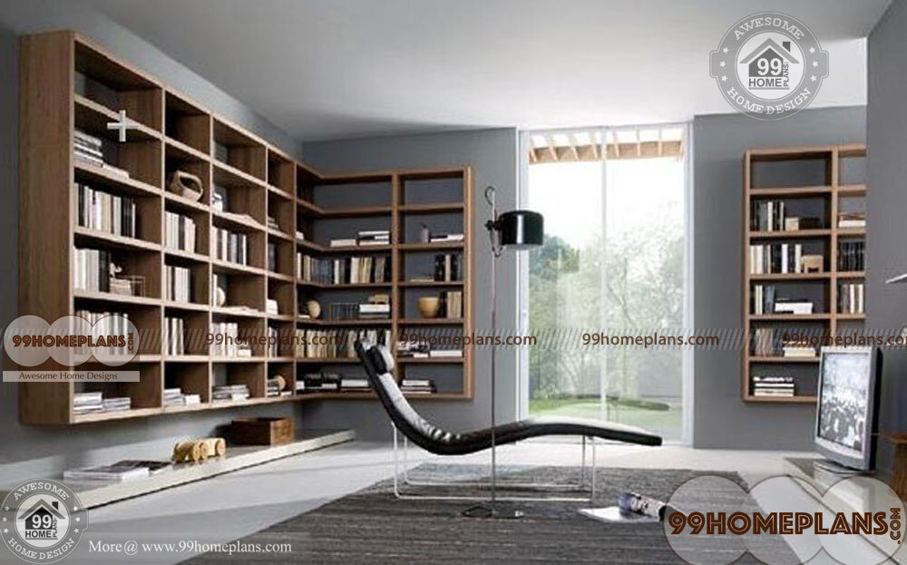 Small Home Library Images Modern Small Space Reading