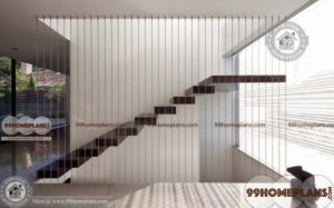 Straight Staircase Plan home interior