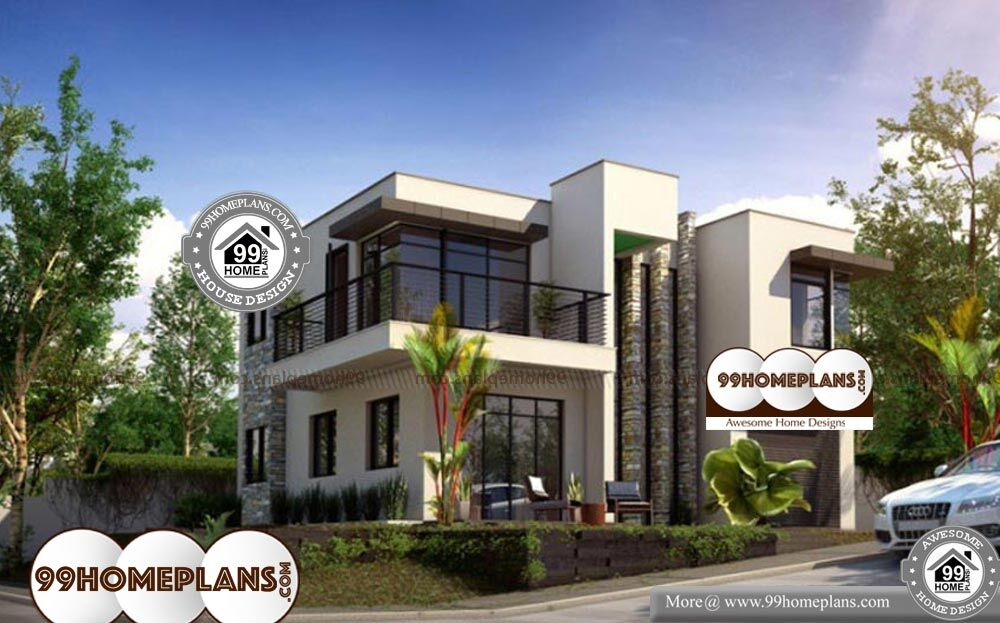Box Type House Exterior Design images - 2 Story 1796 sq ft-Home