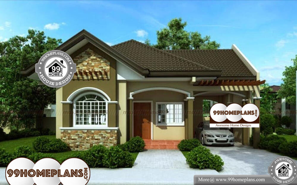 Bungalow House Designs - 1 Story 968 sqft-Home