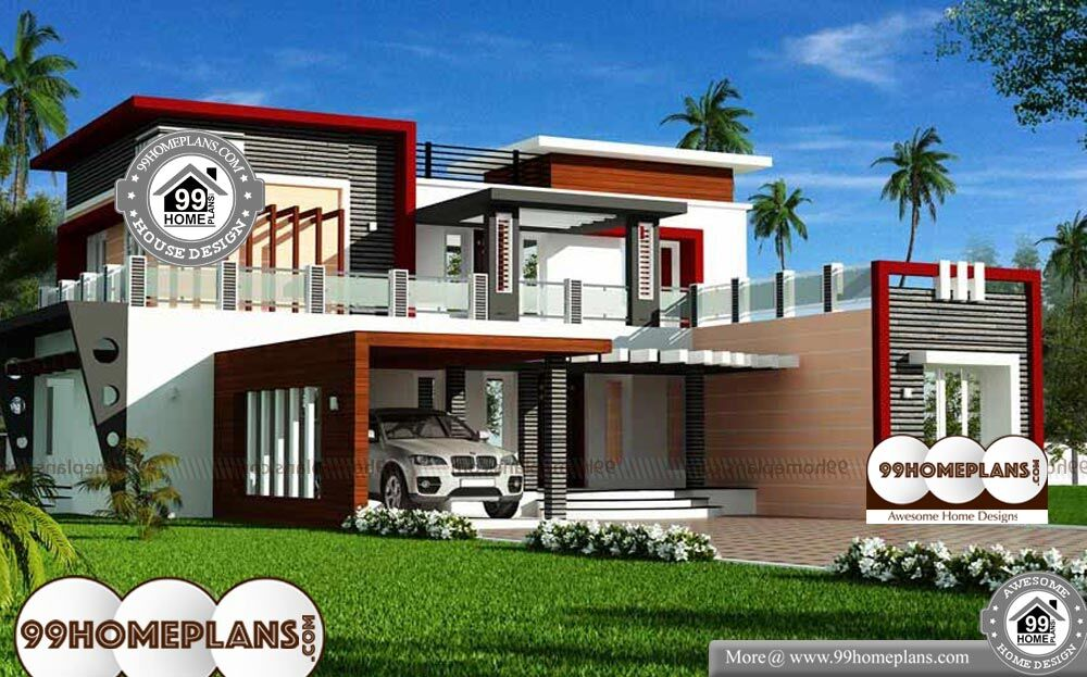 Luxury Modern House Floor Plans 4030 Sq Ft 2 Story Home 3d Elevation