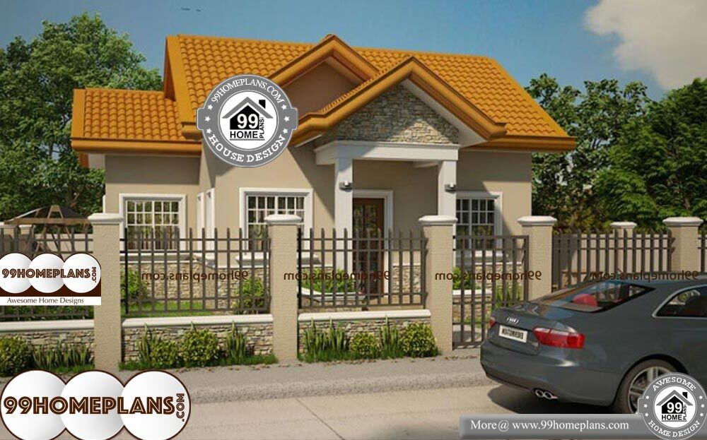 Simple Traditional Home Plans - Single Story 560 sqft-Home