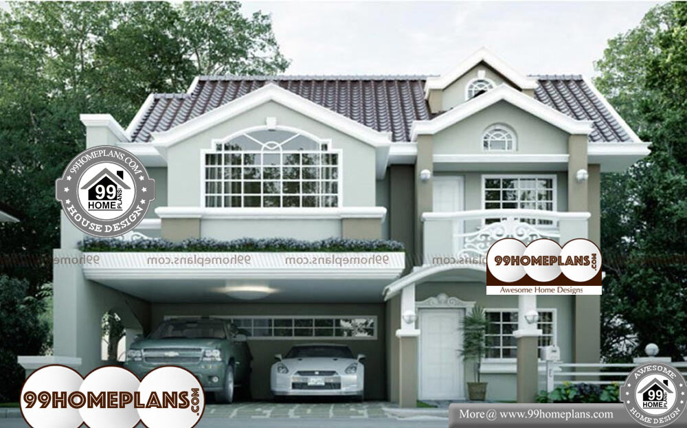 Small Contemporary House Plans - 2 Story 2374 sqft-Home