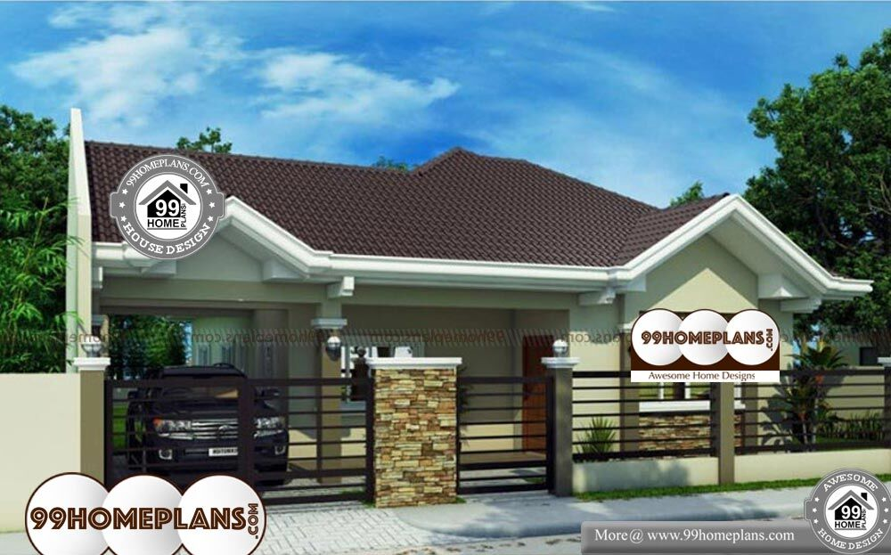 Traditional Bungalow House Plans - OneStory 1442 sqft-Home