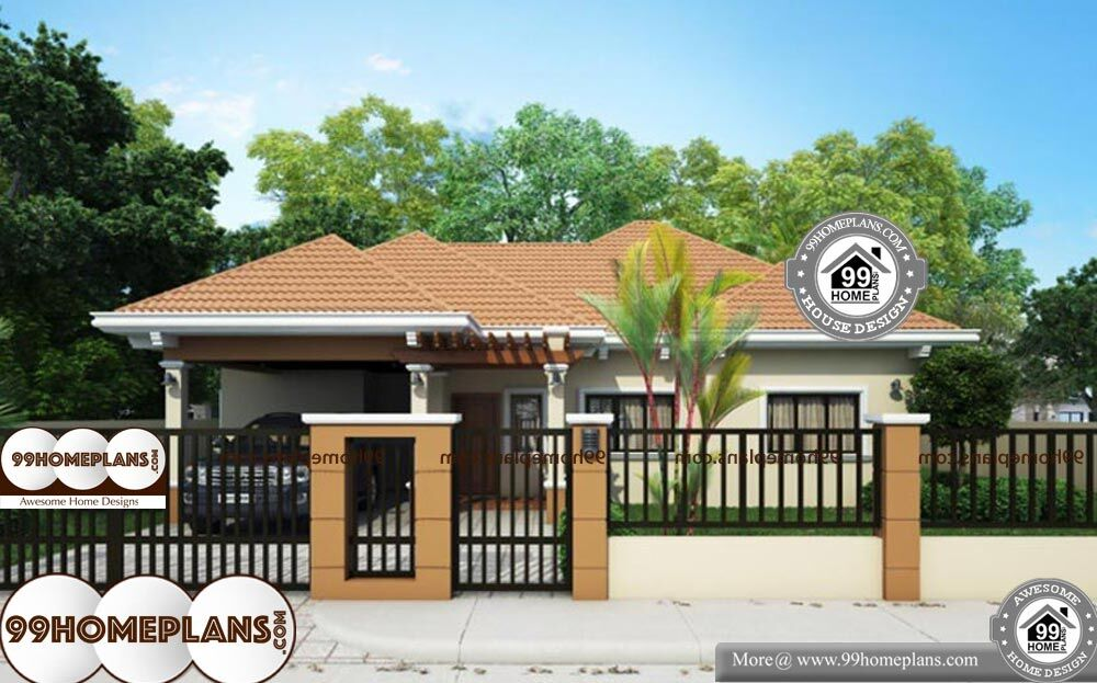 Traditional Home Designs - Single Story 1274 sqft-Home