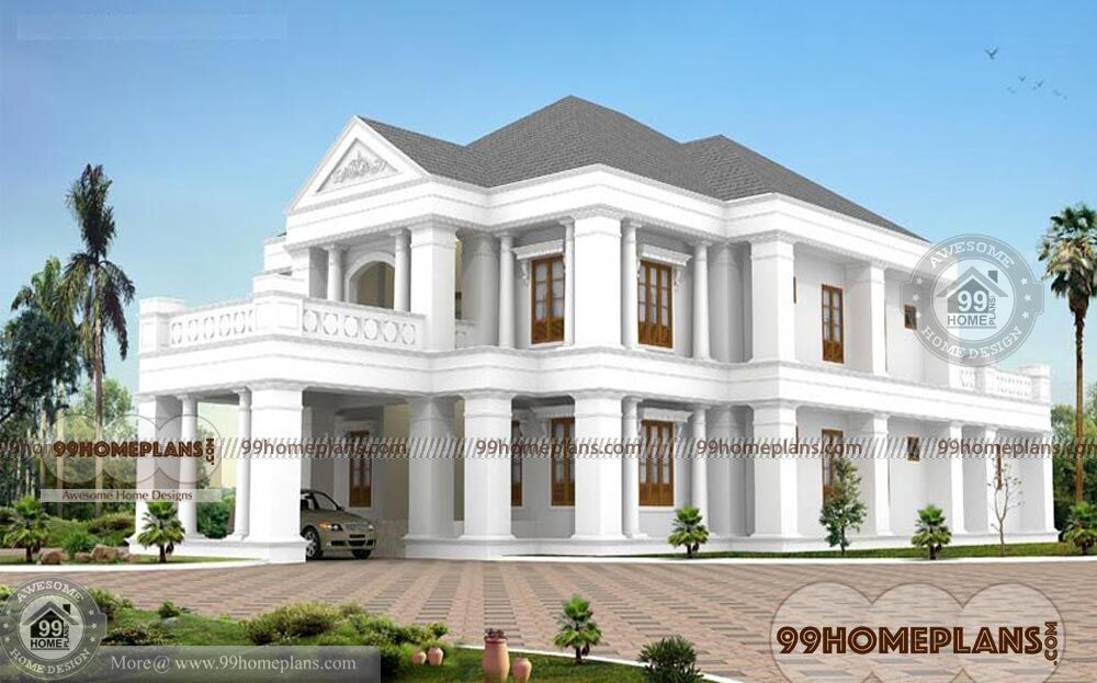 Luxury House Plans Home Elevation Double Story Bungalow Style