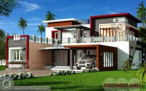 Luxury Modern House Floor Plans Design - 2 Story 4030 sqft