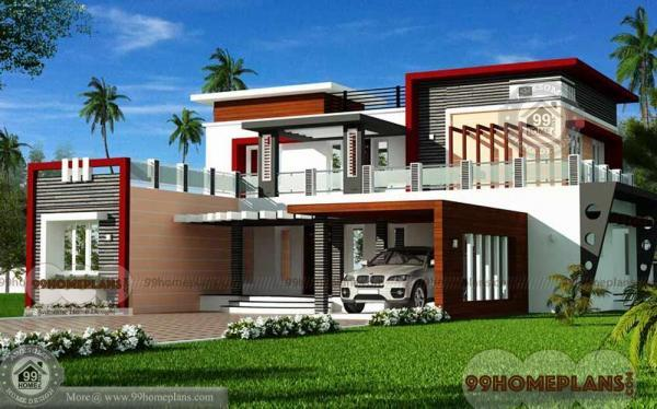Luxury Modern House Floor Plans - 4030 sq ft 2 Story Home 3D Elevation