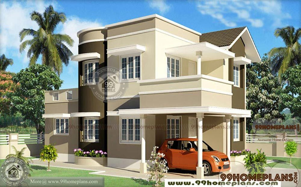 3 bedroom kerala house plans new double floor stylish for Home plans com
