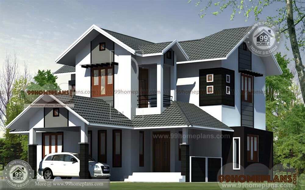 4 Bedroom House Plans Kerala Style Architect Best Double Story Homes