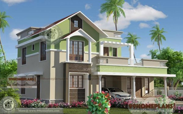 4 BHK Home Design - House Plan Images - Two Story Modern ...