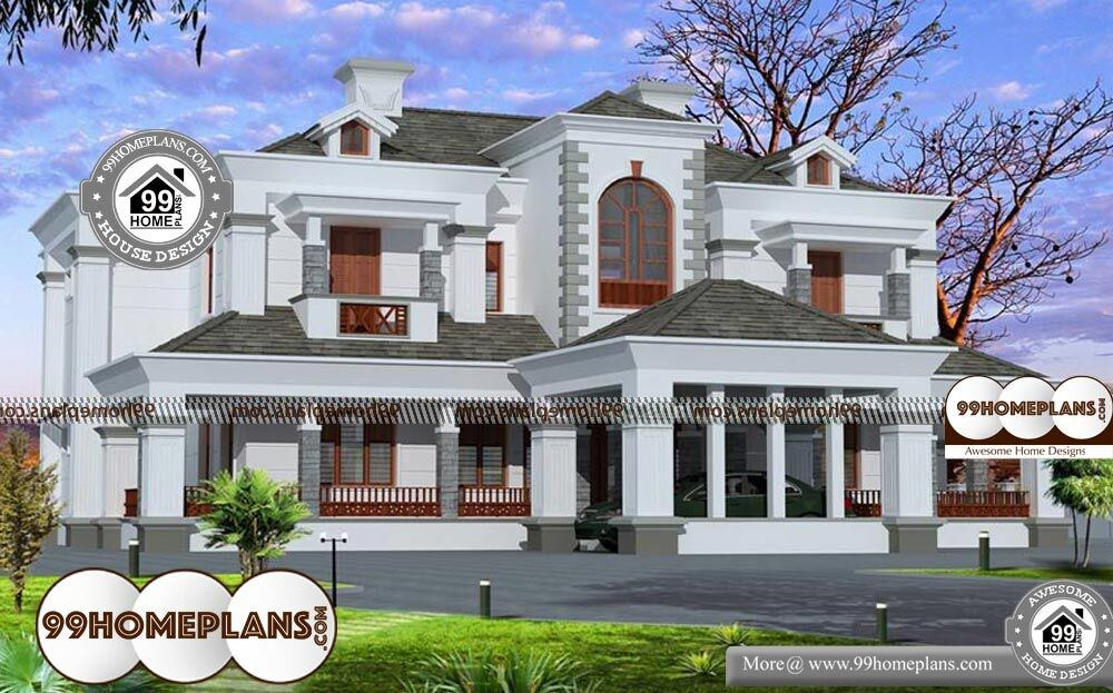 5 Bedroom Bungalow House Plans - 2 Story 6000 sqft-Home