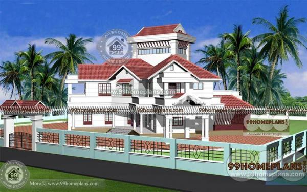 5 bhk house designs 6544 sq ft home plan style elevation for 5 bhk house