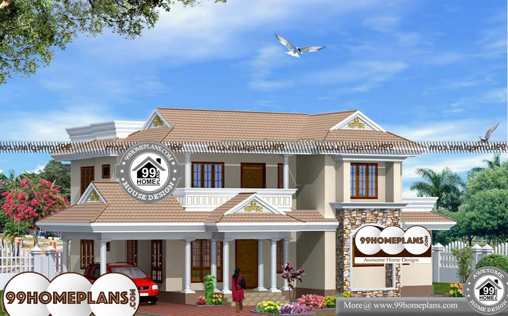 Indian Home Design Plans With Photos - 2 Story 2340 sq ft-Home