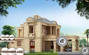 Kerala House Plans And Elevations - 2 Story 2500 sqft-Home